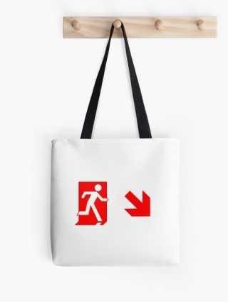 Running Man Exit Sign Tote Shoulder Carry Bag 139