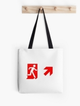 Running Man Exit Sign Tote Shoulder Carry Bag 140