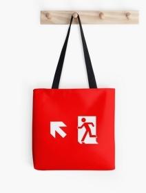 Running Man Exit Sign Tote Shoulder Carry Bag 14