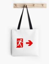Running Man Exit Sign Tote Shoulder Carry Bag 141