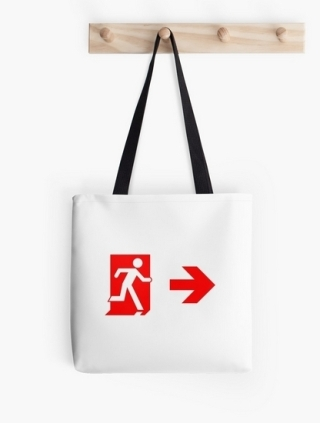 Running Man Exit Sign Tote Shoulder Carry Bag 141