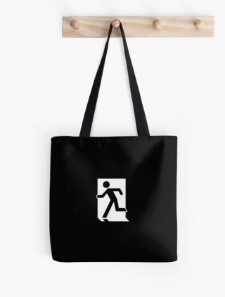 Running Man Exit Sign Tote Shoulder Carry Bag 144