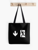 Running Man Exit Sign Tote Shoulder Carry Bag 145