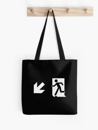 Running Man Exit Sign Tote Shoulder Carry Bag 146