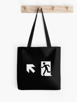 Running Man Exit Sign Tote Shoulder Carry Bag 147