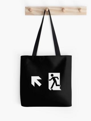 Running Man Exit Sign Tote Shoulder Carry Bag 147