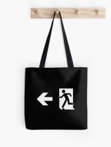 Running Man Exit Sign Tote Shoulder Carry Bag 148