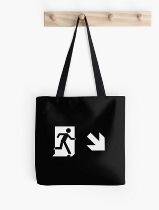 Running Man Exit Sign Tote Shoulder Carry Bag 152