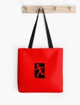 Running Man Exit Sign Tote Shoulder Carry Bag 154