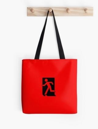 Running Man Exit Sign Tote Shoulder Carry Bag 154