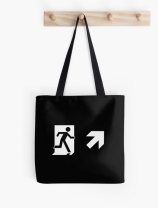 Running Man Exit Sign Tote Shoulder Carry Bag 155
