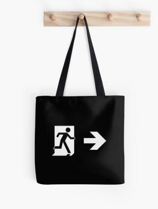Running Man Exit Sign Tote Shoulder Carry Bag 156