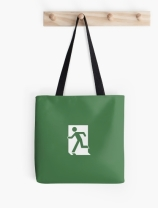 Running Man Exit Sign Tote Shoulder Carry Bag 158
