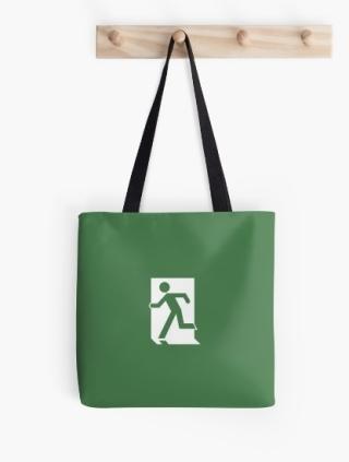 Running Man Exit Sign Tote Shoulder Carry Bag 158