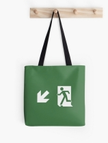 Running Man Exit Sign Tote Shoulder Carry Bag 160
