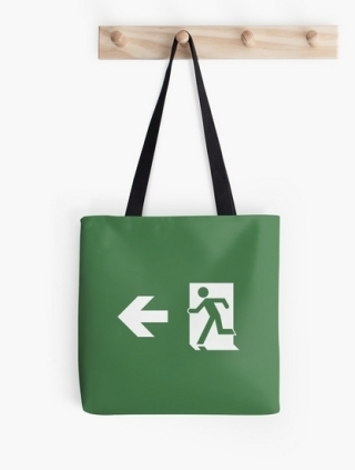 Running Man Exit Sign Tote Shoulder Carry Bag 162
