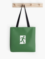 Running Man Exit Sign Tote Shoulder Carry Bag 164