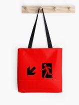 Running Man Exit Sign Tote Shoulder Carry Bag 16