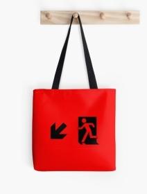 Running Man Exit Sign Tote Shoulder Carry Bag 16