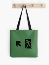 Running Man Exit Sign Tote Shoulder Carry Bag 1