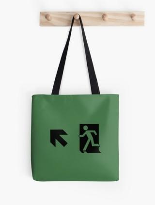 Running Man Exit Sign Tote Shoulder Carry Bag 1