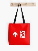 Running Man Exit Sign Tote Shoulder Carry Bag 18