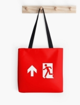 Running Man Exit Sign Tote Shoulder Carry Bag 18