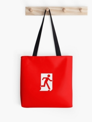 Running Man Exit Sign Tote Shoulder Carry Bag 19