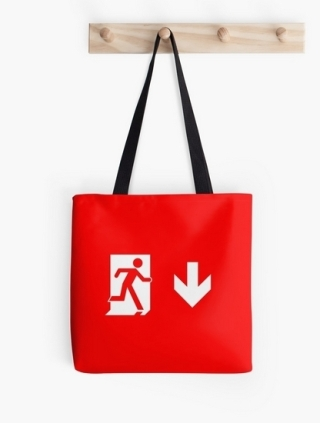 Running Man Exit Sign Tote Shoulder Carry Bag 20