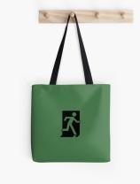 Running Man Exit Sign Tote Shoulder Carry Bag 2