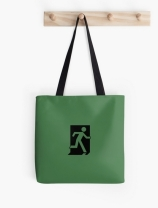 Running Man Exit Sign Tote Shoulder Carry Bag 2