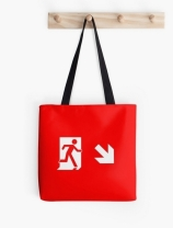 Running Man Exit Sign Tote Shoulder Carry Bag 22