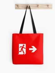 Running Man Exit Sign Tote Shoulder Carry Bag 23