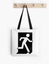 Running Man Exit Sign Tote Shoulder Carry Bag 25