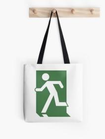 Running Man Exit Sign Tote Shoulder Carry Bag 26