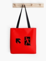 Running Man Exit Sign Tote Shoulder Carry Bag 27