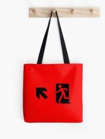 Running Man Exit Sign Tote Shoulder Carry Bag 27