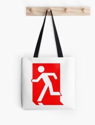 Running Man Exit Sign Tote Shoulder Carry Bag 29