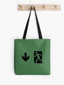 Running Man Exit Sign Tote Shoulder Carry Bag 3