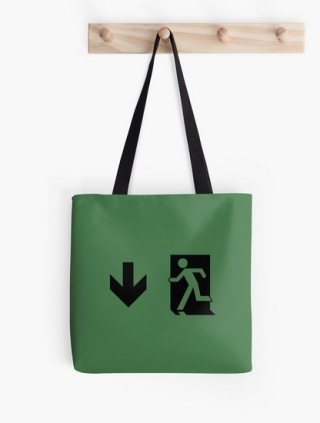 Running Man Exit Sign Tote Shoulder Carry Bag 3