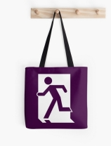 Running Man Exit Sign Tote Shoulder Carry Bag 31