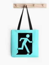 Running Man Exit Sign Tote Shoulder Carry Bag 33