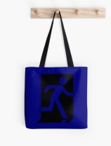 Running Man Exit Sign Tote Shoulder Carry Bag 34