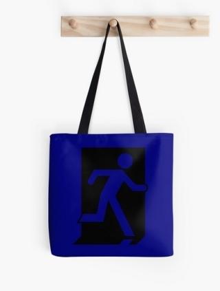 Running Man Exit Sign Tote Shoulder Carry Bag 34