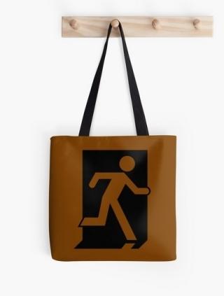 Running Man Exit Sign Tote Shoulder Carry Bag 35