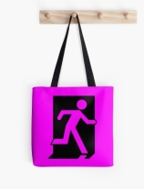 Running Man Exit Sign Tote Shoulder Carry Bag 37