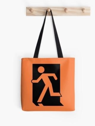 Running Man Exit Sign Tote Shoulder Carry Bag 40