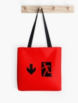 Running Man Exit Sign Tote Shoulder Carry Bag 4