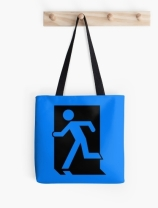 Running Man Exit Sign Tote Shoulder Carry Bag 41