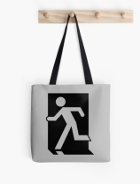 Running Man Exit Sign Tote Shoulder Carry Bag 42